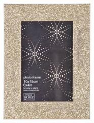 Фоторамка Innova PI00243 Ф/рамка 10*15cm Glitter, золото, МДФ (6/720) Б0046314