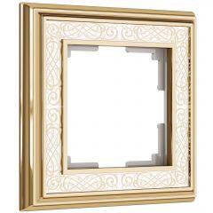 Werkel Рамка на 1 пост (золото/белый) W0011429