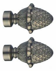 Эскар Набор из 2 наконечников для карнизов Шишка