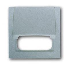 Лицевая панель ABB Impuls розетки телекоммуникационной с крышкой серебристо-алюминиевый 2CKA001753A0044