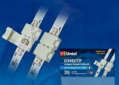 Коннектор Uniel UTC-L-2/A20-NNN WHITE 020 POLYBAG
