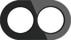 Werkel Рамка на 2 поста (Черный) WL21-frame-02