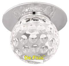 """Точечный светильник De Fran FT 807 LED светодиодный """"Шар-Бабл"""", с ПРА и LED хром, спектр теплый белый 3100К LED 1 x 3 вт"""