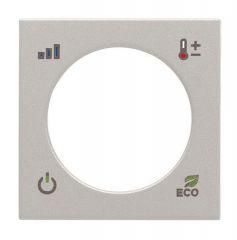 Лицевая панель ABB Zenit терморегулятора KNX серебро N2240.4 PL