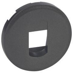 Лицевая панель Legrand Celiane розетки акустической графит 067813