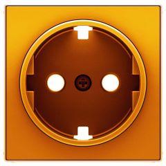 Лицевая панель ABB Sky розетки Schuko с/з оранжевый 2CLA858890A1001