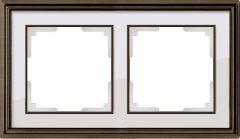 Werkel Рамка Palacio на 2 поста (бронза/белый) WL17-Frame-02