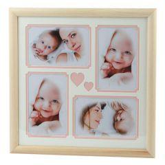 Фоторамка Image Art Серия Eco С22, 30x30 Розовый 4 фото 10x15 художественное паспарту, 2 слоя (16/288) Б0050055