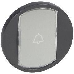 Лицевая панель Legrand Celiane переключателя с этикеткой графит 067934