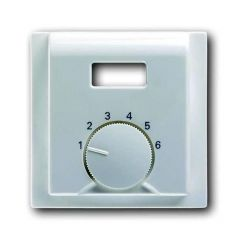 Лицевая панель ABB Impuls терморегулятора серебристо-алюминиевый 2CKA001710A3775