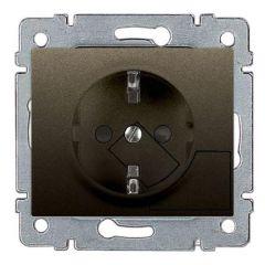 Розетка 2К+З Legrand Galea Life 16A 250V с/з с механической системой выталкивания вилки темная бронза 771224