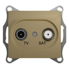 Schneider Electric GLOSSA TV-SAT РОЗЕТКА оконечная 1DB, механизм, ТИТАН