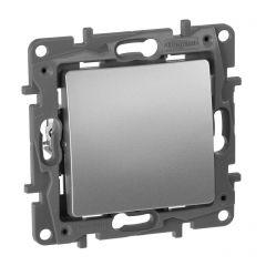 Переключатель одноклавишный Legrand Etika 10A 250V алюминий 672405
