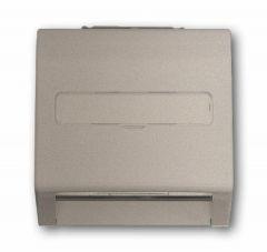 Лицевая панель ABB Impuls розетки коммуникационной c полем для надписи шампань-металлик 2CKA001753A5499