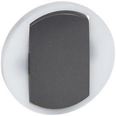 Лицевая панель Legrand Celiane выключателя одноклавишного с контурной подсветкой графит 065204