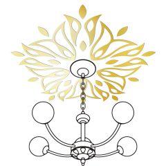 Декор настенно-потолочный Ваша Светлость ЛАНДЫШ-5 золото 2-00601FG Комплект наклеек