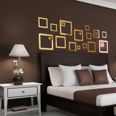 Декор настенный Ваша Светлость КАРЕ-3 золото 1-00301FG Комплект наклеек