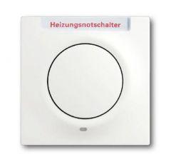 Лицевая панель ABB Impuls выключателя одноклавишного с подсветкой маркировкой HNS белый бархат 2CKA001753A0184