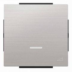 Лицевая панель ABB Sky диммера клавишного нержавеющая сталь 2CLA856010A1401