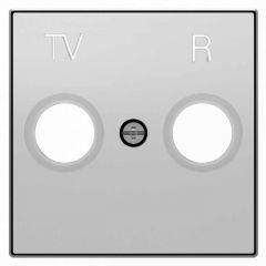 Лицевая панель ABB Sky розетки TV-R серебристый алюминий 2CLA855000A1301
