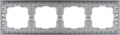Werkel Рамка на 4 поста (матовый хром) WL07-Frame-04