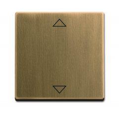 Лицевая панель ABB Dynasty выключателя электронного Busch-Jalousiecontrol латунь античная 2CKA006430A0407