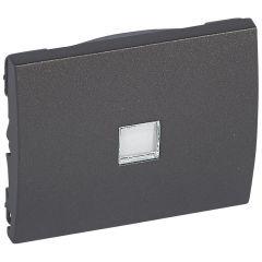 Лицевая панель Legrand Galea Life выключателя с подсветкой темная бронза 771211