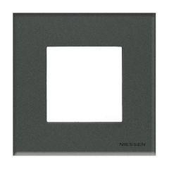 Рамка 1-постовая ABB Zenit стекло графит N2271 CF