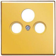 Накладка TV-FM-SAT розетки Jung LS 990 блеск золота GO2990SAT