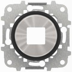 Лицевая панель ABB Sky Moon розетки USB cтекло чёрное 2CLA868500A1501