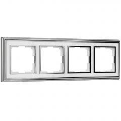 Werkel Рамка на 4 поста (хром/белый) W0041331