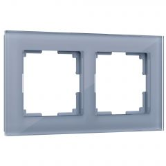 Werkel Рамка на 2 поста (серый,стекло) W0021115