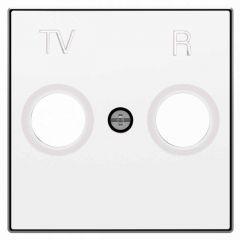 Лицевая панель ABB Sky розетки TV-R альпийский белый 2CLA855000A1101