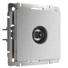 Werkel ТВ-розетка оконечная (cеребряный рифленый) W1183009