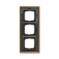 Рамка 3-постовая ABB Dynasty латунь античная/черная роспись 2CKA001754A4597
