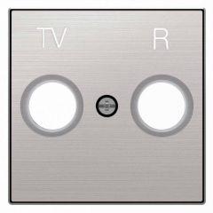 Лицевая панель ABB Sky розетки TV-R нержавеющая сталь 2CLA855000A1401