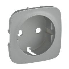 Лицевая панель Legrand Valena Allure розетки с/з с зажимами алюминий 755257