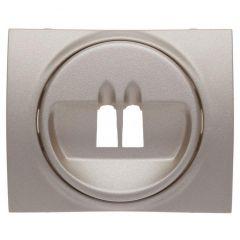 Лицевая панель Legrand Galea Life розетки акустических систем титановая 771400