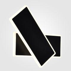 Настенный светодиодный светильник Elektrostandard Twirl 90316/2 черный 4690389174179