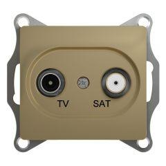 Schneider Electric GLOSSA TV-SAT РОЗЕТКА проходная 4DB, механизм, ТИТАН