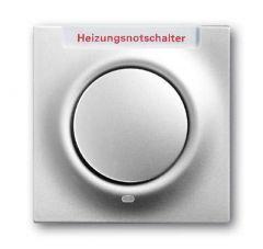 Лицевая панель ABB Impuls выключателя одноклавишного с подсветкой маркировкой HNS серебристо-алюминиевый 2CKA001753A0069
