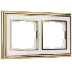 Werkel Рамка на 2 поста (золото/белый) W0021329
