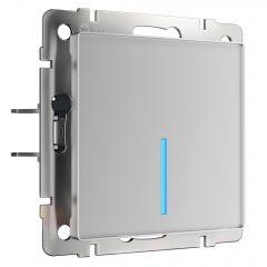 Werkel Сенсорный выключатель одноклавишный с функцией Wi-Fi (серебряный) W4510606