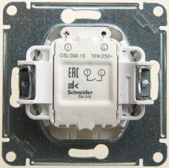 Schneider Electric GLOSSA 1-клавишный ВЫКЛЮЧАТЕЛЬ с подсветкой, сх.1а, 10АХ, механизм, ПЕРЛАМУТР