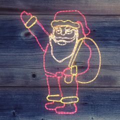 Neon-Night Панно световое [1x1 м] Санта Клаус с мешком NN-501 501-312