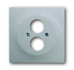 Лицевая панель ABB Impuls аудиорозетки двойной серебристо-алюминиевый 2CKA001753A0049