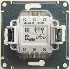 Schneider Electric GLOSSA 2-клавишный ПЕРЕКЛЮЧАТЕЛЬ, сх.6/2, 10АХ, механизм, ПЕРЛАМУТР