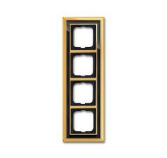 Рамка 4-постовая ABB Dynasty латунь полированная/черное стекло 2CKA001754A4568