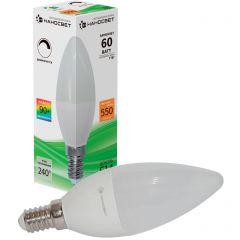 Лампа светодиодная Наносвет E14 7W 2700K матовая LE-CD-D-7/E14/927 L248