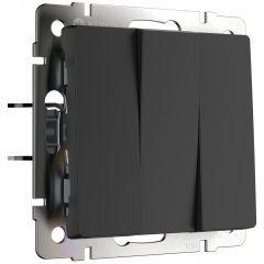 Werkel Выключатель трехклавишный (черный матовый) W1130008